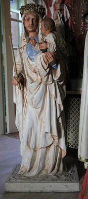 Beautiful large stone statue of Mary-20th century.