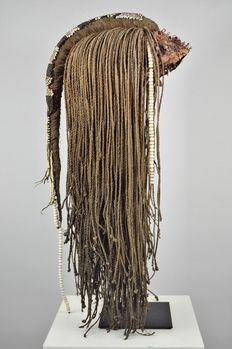 Beaded & Braided Headdress and Stand - Kenya - Excellent Provenance