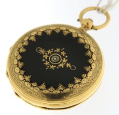 Pocket watch with key