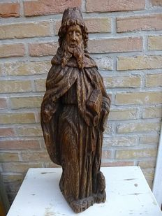 Large oak sculpture - Antonius Abt - Southern Netherlands -late Gothic - 16th century