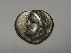 Ancient Greece - Thessaly, Ainianes - Hemidrachm AR (circa 400-344 BC). Rare.