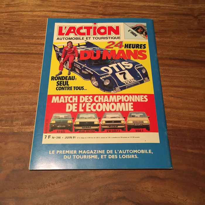Le Mans 24 Hour 1973 Original Race Poster