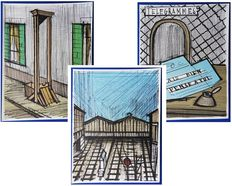 Bernard Buffet (after) - Gullotine, Télégramme, Gare