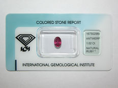 Ruby  , 1.02cts.