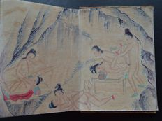Oriental Erotica; Pillow Book with 12 Chinese erotic scenes-2nd half of 20th century