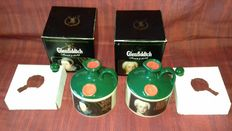 2 decanters: Glenfiddich Single malt whisky 43% vol 750ml & Mary Queen of Scots and Bonnie Prince Charlie designs.