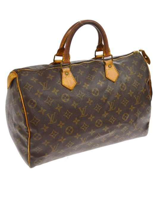 louis vuitton speedy 35 handtasche catawiki. Black Bedroom Furniture Sets. Home Design Ideas