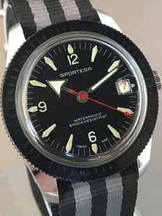Sportesa -- Diver's men's wristwatch -- Approx. the 1970s