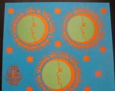 """Country Joe & the Fish   Family Dog Avalon Poster San Francisco 1967  """"Dance of the Five Moons"""""""