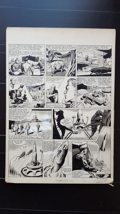 Watson, Keith - Original Art Page (p.7) - Dan Dare - Operation Earth Saver - (1962)