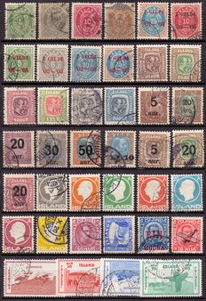 Iceland - Selection of loose stamps