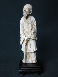 Antique ivory statue - China - approx. 1900-1920