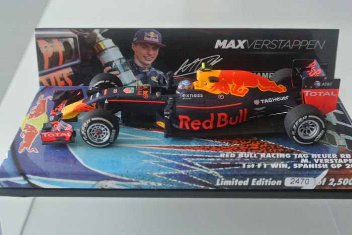 Max Verstappen First Win Spain 2016 Minichamps 1:43 Limited Edition no. 2470/2500