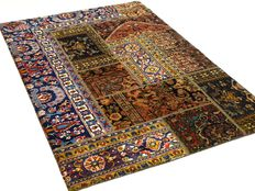 Patchwork – 180 x 118 cm. – combination of the most beautiful,  Persian carpets in beautiful condition.