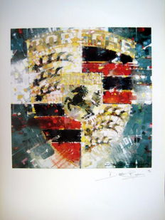 Art Lithograph - Porsche Emblem - Signed by the Artist: Dexter Brown