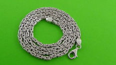 Silver king's braid necklace, 37.5 grams