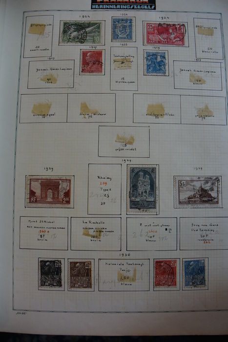 Europe 1840/1940 - collection in Kabe album and four albums.