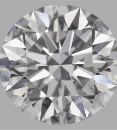 0.55ct Round Brilliant Diamond D VS2 with GIA-Original Image -10x #1336