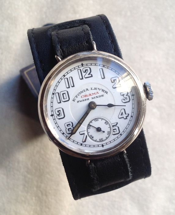 ETONIA LEVER ORAMA Officers trench watch - period WW1 - stunning conditions and extremely rare!