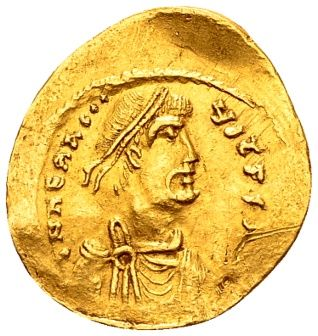 Byzantine Empire - Heraclius (610-641 A.D.). Gold Semissis, minted in Constantinople