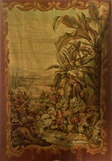 Aubusson: an exotic verdure landscape tapestry - France - 19th century