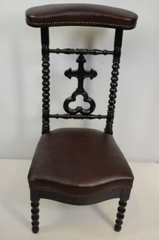 William III, black polished prayer chair, Holland - ca 1870