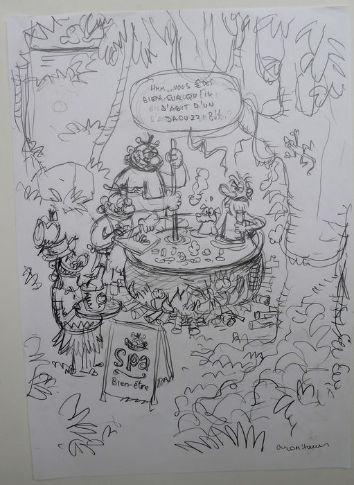 Cromheecke, Luc - Original sketch for cover - Lîle carrément Perdue (2011)