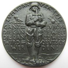 First World War - Medal 1918 by Karl Goetz commemorating to the New Year 1918