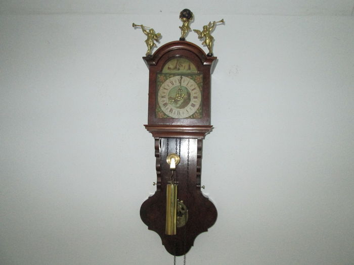 Frisian wall mounted grandfather clock circa 1965 catawiki - Wall mounted grandfather clock ...