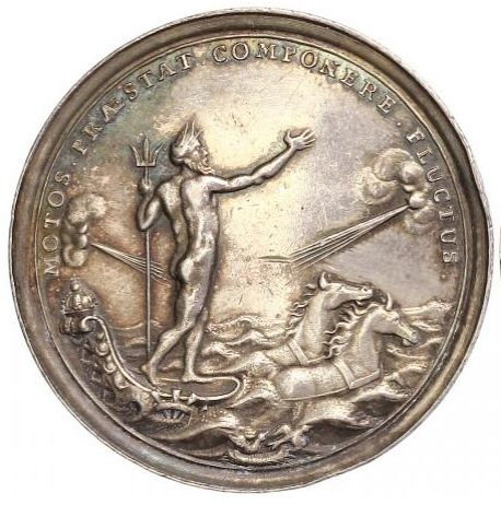 Netherlands - Medal 1696 'Neptune Sea Chariot' - silver