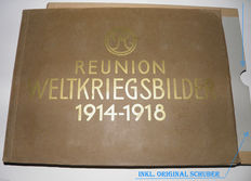 Reunion Weltkriegsbilder 1914 - 1918 with slipcase. Rare Album - WW1 - with 200 pictures