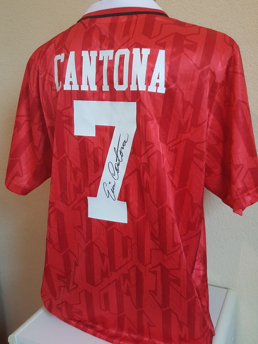 separation shoes 037bc 37a63 Eric Cantona - Official retro Manchester United 1994 FA Cup Final Jersey  no. 7 - hand signed by Cantona + COA incl. photo proof. - Catawiki