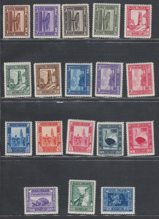 Italy 1932 - Colonies Somalia Pictorial issue perf. 12 - Sass NN. 167/184