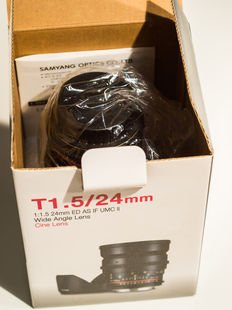 Samyang 24-mm T1.5 VDSLR lens for MKII Canon