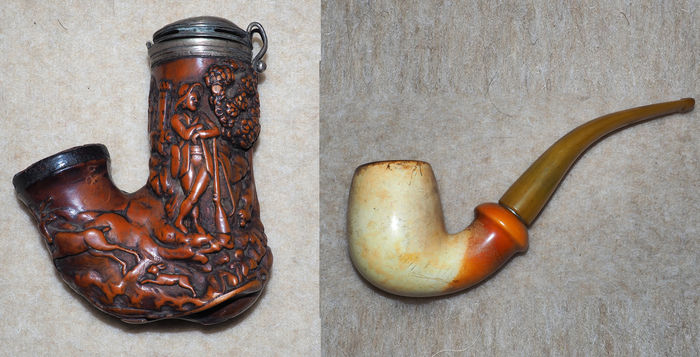 2 old meerschaum pipes & 2 old meerschaum pipes - Catawiki