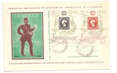 Luxembourg 1952 – First day cover – Centilux.