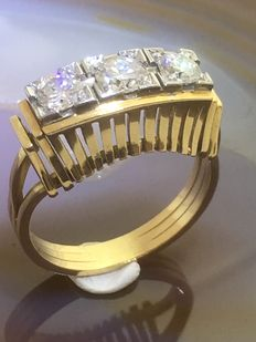 18 kt yellow gold and 18 kt white gold ring