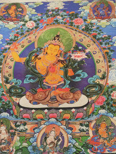 Hand Painted Thangka - Nepal - late 20th century