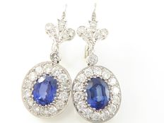 Exclusieve Diamond and  Sapphire earrings