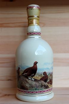 The Famous Grouse Decanter 70cl 40%vol. old / rare, Highland Decanter, gilded with 24 carat gold