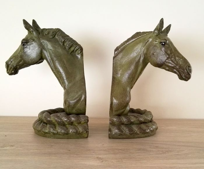 horse Heads (2) - Iron (cast/wrought)