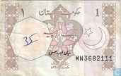 Pakistan 1 Rupee (P27m) ND (1983-)