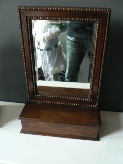 Oak wood bathroom mirror england early 20th century for Bathroom traduction