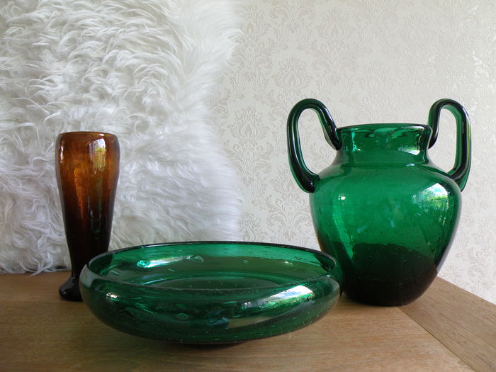 Designer Max Verboeket Set Of Three Glass Vases Antiqua Catawiki