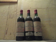 1x 1973 & 2x 1975 Chateau Lynch-Bages, Pauillac Grand Cru Classé, France - 3 flessen