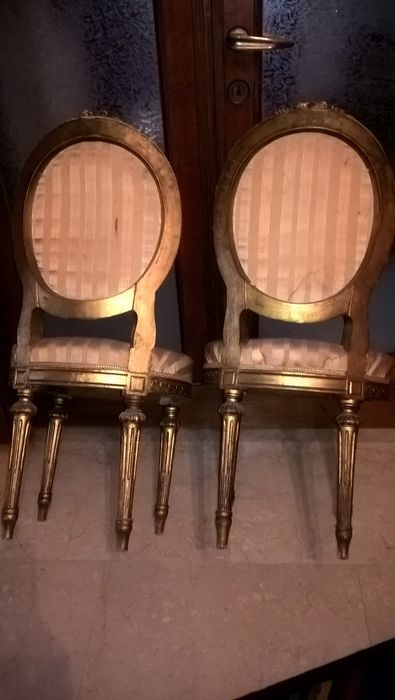 zwei st hle im stil von louis xvi frankreich um 1870. Black Bedroom Furniture Sets. Home Design Ideas