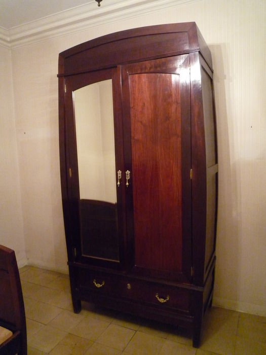 Deco style two-door wardrobe