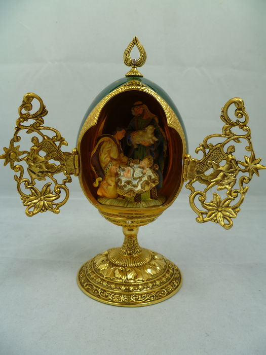 House of Faberge - The Shepherds  Faberge egg - provenance Malaysia -  4th quarter 20th century