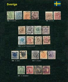 Sweden 1858/1911 - Small batch of stamps
