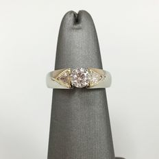 18 kt  diamond engagement ring - 1.0 ct -